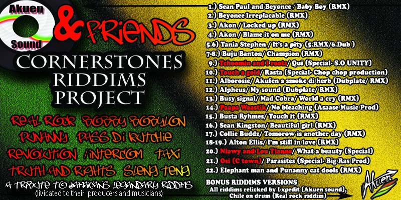 Cornerstones riddims project part I