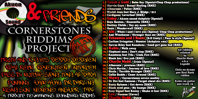 Cornerstones Riddims Project II Cover